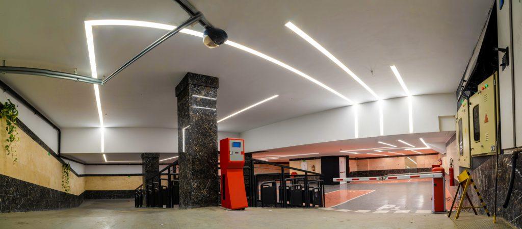 نور خطی پارکینگ ساختمان اداری