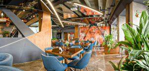 رستوران آدرین نور خطی نورانه