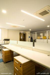 پروژه روشنایی دفتر هواپیمایی زاگرس صنایع روشنایی نورانه