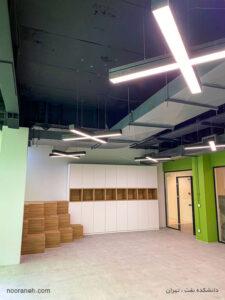 روشنایی دانشکده نفت توسط چراغ خطی لاین نورانه