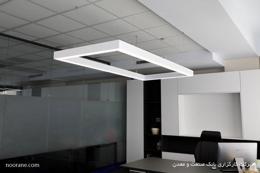 طراحی روشنایی کارگزاری صنعت و معدن با چراغ خطی لاین نورانه