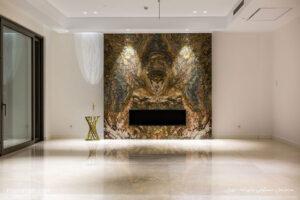 ساختمان مسکونی پانوراما - گروه معماری میکا - روشنایی نورانه - چراغ خطی لاین و چراغ دانلایت تریمو